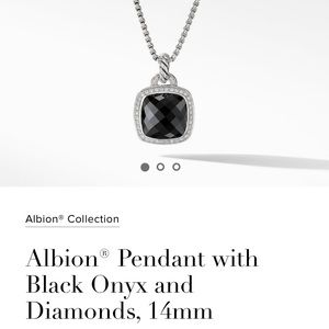 David Yurman Albion pendant black onyx diamonds